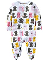 Yinson Baby Toddler Boys Loose Fit Onesies Pajamas Footed and Footless