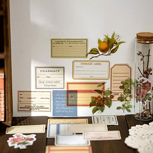 BLOUR Yuxian Vintage Retro Erinnerung an das Manuskript Papier Tagebuch Aufkleber Buch Scrapbooking Dekoration Etikett Großhandel