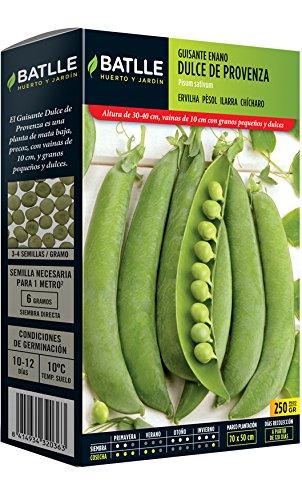 Semillas Leguminosas - Guisante Enano Dulce de Provenza 250 Gr. - Batlle
