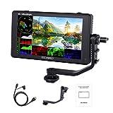 Feelworld LUT6 6 Pollici 2600nits HDR / 3D LUT Touch Screen DSLR Monitor da Campo con Fotocamera Istogramma VectorScope 4K Uscita Ingresso HDMI Pannello IPS 1920X1080