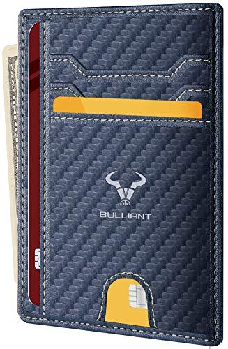 Geldbörse Herren und Damen,BULLIANT Kreditkartenetui Geldbeutel Mini Portemonnaie,RFID Schutz
