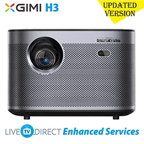 CACACOL Updated XGIMI H3 Android 3D Smart TV Home Cinema 4K Projector | Native 1080p HD | 1900 ANSI Lumens | X-VUE MEMC HDR10 HLG | Harman/Kardon Hi-Fi Stereo Speaker