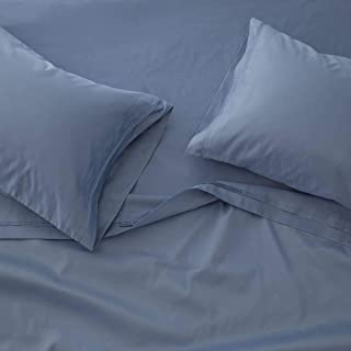 1000 Thread Count Bed Sheet Sets - Luxurious 100% Egyptian Cotton Deep Pocket Sheets - Bedding Set Includes One Flat Sheet, One Fitted Sheet & Two Pillowcases - King Size, Medium Blue