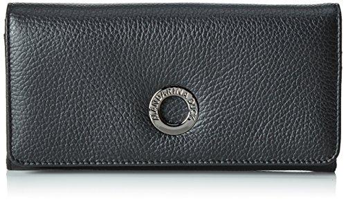 Mandarina Duck Mellow Leather Portafoglio - Portafogli Donna, Nero, 2x10x19 cm (B x H T)