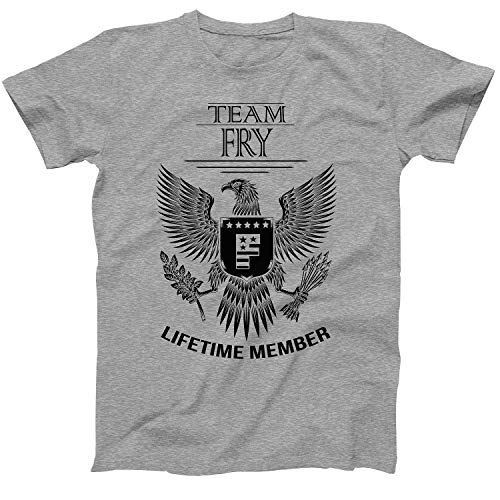 Lifetime Member of Team Fry Family Fry Surname T-Shirt Size Large Grey