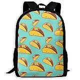 XCNGG Mochila de impresión de fotograma completo para adultos Mochila informal Mochila Mochila escolar NiYoung Casual Large College School Daypack - Laptop Outdoor Backpack Smile Mexican Tacos Vintage