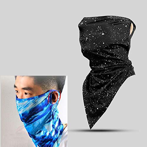 Sports Sjaals, Driehoekige Sjaals Voor Mannen Zomer Ijs Zijden Ademende Zweet Naadloze Rit Mask Wind Zand,Dark night sky