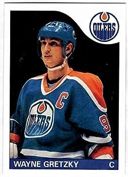 1985-86 Topps #120 WAYNE GRETZKY HOF Edmonton Oilers REPRINT - Hockey Card
