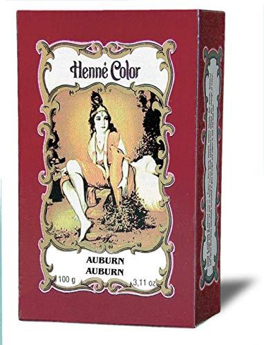 Mahagoni-Dunkel (Auburn) Henna Haarfärbe-Pulver, Inhalt 100g