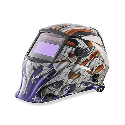 KT Industries American Steel Auto Darkening Welding Helmet (4-1052)