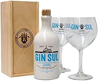 Gin Sul Dry Gin  Holzbox  2 Gläser 1 x 0,5 l