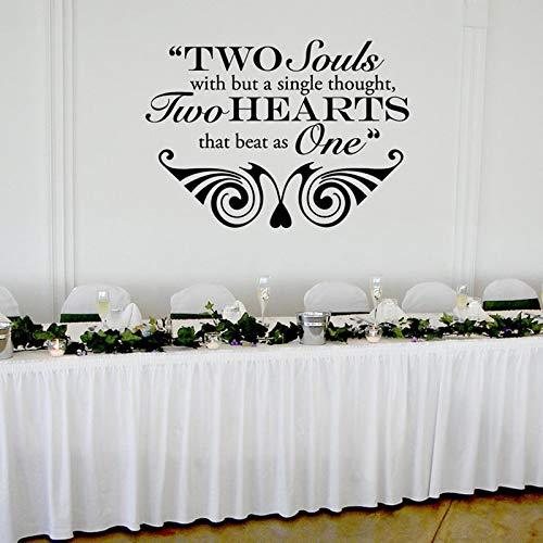 sanzangtang Adesivo in Vinile a Due Cuori Adesivo Bordo per Matrimonio Adesivo Specchio Decorazione 57x41 cm