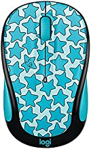 Logitech Doodle Collection M325c - Mouse - optical - 5 buttons - wireless - 2.4 GHz - USB wireless receiver - Twinkle Teal
