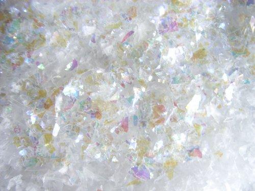 Diamant-Schnee 1 kg (EUR 11,30/kg), Dekoschnee, Streuschnee, Kunstschnee mit Irisfolien-Flocken