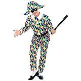 Widmann - Cs925779/m - Costume Arlequin Satin Taille M