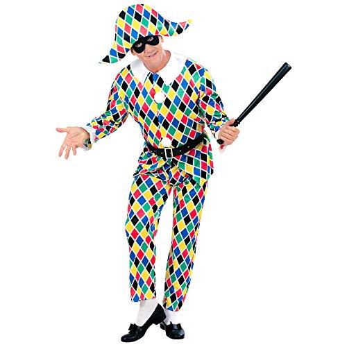 Widmann 57793 - Costume da Arlecchino, Taglia L, Multicolore
