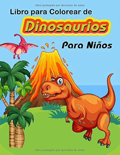 libro para Colorear de Dinosaurios para niños: Dibujos de Dinosaurios Realistas para niños y niñas de 4 a 8 años, Libro mágico de dinosaurios, colorear de dinosaurios para niños .