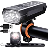 Victagen Bike Light,Bike Headlight &Tail Light,Runtime 6+ Hours 2400 Lumens Type C-USB Rechargeable...