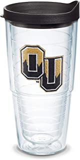Tervis 1079187 Oakland Golden Grizzlies Logo Tumbler with Emblem and Black Lid 24oz, Clear