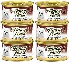 عبوة طعام القطط كلاسيك تيندر بنكهة البيف الرطب من بيورينا فانسي فيست، 85 غرام (6 عبوات)