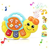 STEAM Life Caterpillar Toy - Baby Musical Toy - Light Up Toy Piano for Babies - Crib Music Toy for Babies and Toddlers - Toy for 18 - 24 Month Old - Perfect Toys for 2 Year Old Boys and Girls