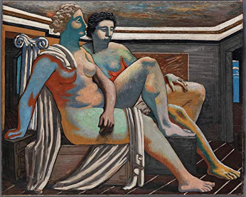 Berkin Arts Giorgio De Chirico Giclee Canvas Print Paintings Poster Reproduction(Two Mythological Figures Nudes) #XFB