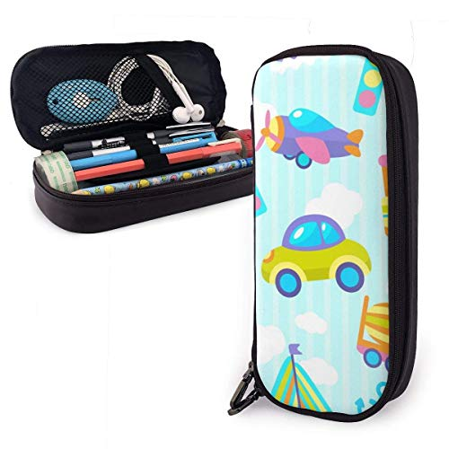 Pencil Case Pen Bag Kids Players Car Spaceship Rocket Hot Air Balloon Pencil Case, Large Capacity Pen Case Pencil Bag Stationery Pouch Pencil Holder Pouch with Big Compartments