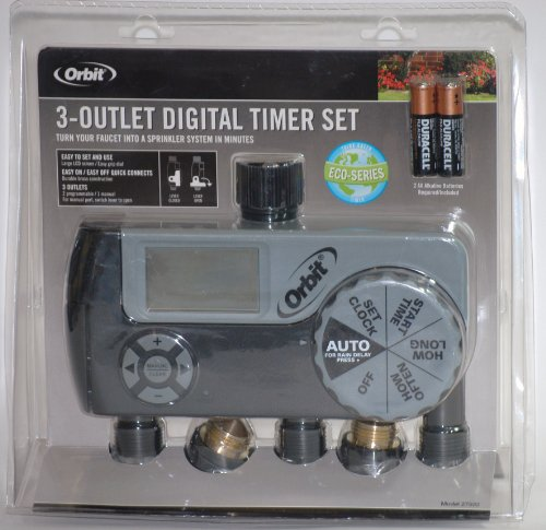 Orbit 3-outlet Digital Watering/Sprinkling Timer Set