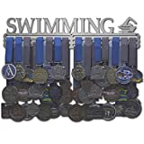 Allied Medal Hangers - Swimming (18' Wide with 3 Hang Bars) - Medal Hanger Holder Display Rack - Multiple