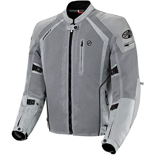 Joe Rocket Phoenix Ion Men's Mesh Motorcycle Jacket (Silver, X-Large Tall)