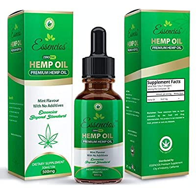 Hemp Oil for Pain Relief, 500mg Hemp Extract, A...