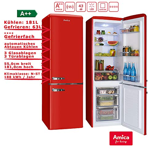 Amica FK2965.3RAA / KGCR387100R Kühlschrank/A++ /Kühlteil181 liters /Gefrierteil63 liters