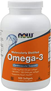 Now Supplements, Omega-3, Molecularly Distilled, 500 Softgels