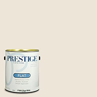 Prestige Paints P100-P-SW7013 Interior Paint and Primer in One, 1-Gallon, Flat, Comparable Match of Sherwin Williams Ivory Lace, 1 Gallon, SW248-Ivory