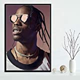 yiyiyaya Travis Scott Music Star Rap Rapper Rodeo Astroworld Poster Wall Art Picture Prints Canvas Painting For Home Room Decor 50x60cm