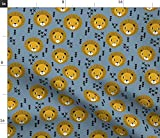 Löwe, Kinderzimmer, Baby, Blau, Jungen Stoffe -