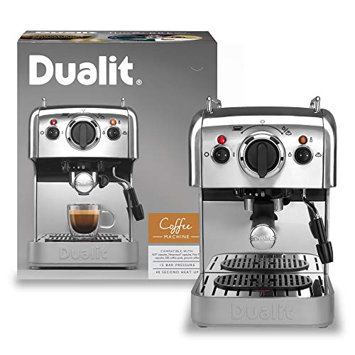 51c FDo1SVL. SS500  - Dualit 3-in-1 Coffee Machine | Polished Stainless Steel | 1.5 L Capacity | Multi-Brew Versatility | Patented Pure Pour…