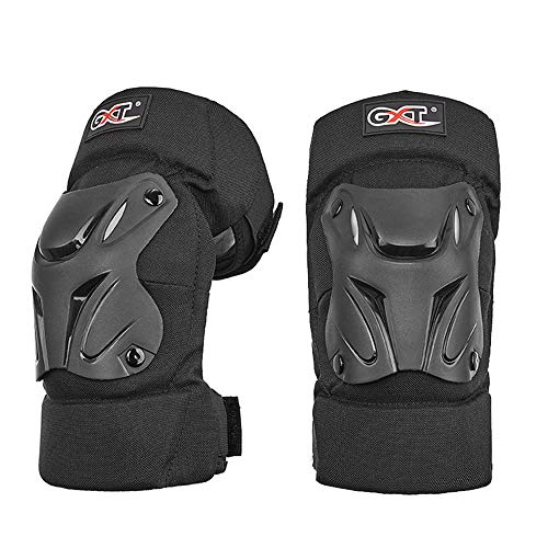 Motorcycle Knee Pads - Motocross Fietsen Protector, Voor Mountain Bike/Skateboarding/Schaatsen/Snowboarden/Scooter, One Size Fits Most, Black