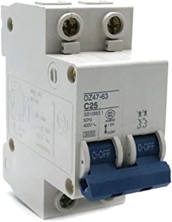 Yohii Miniature Circuit Breaker 2 Poles 25A 400V Din Rail Mount DZ47-63 C25