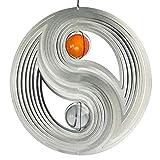 CIM Edelstahl Windspiel - Orbit Yin Yang 300 - Ø300mm - Kugeln: 2xØ50mm - inklusiv Kugellagerwirbel, Haken und 1m Nylonschnur
