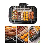 Goofly Smokeless Indoor/Outdoor Electric Grill Portable Tabletop Grill Kitchen BBQ Grills Adjustable Temperature