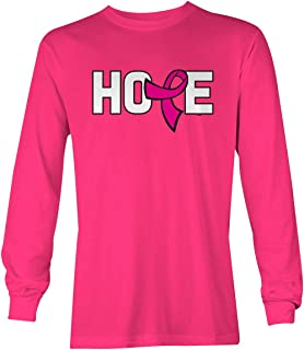 Hope Pink Ribbon - Breast Cancer Awareness Unisex Long Sleeve Shirt