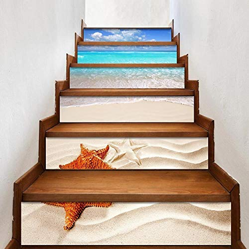 Yubingqin 27 Diseño Mosaico Tile Wall Stair Stickers Auto Adhesivo Impermeable PVC Decoración del hogar Etiqueta de la Pared Cocina Pegatinas de cerámica (Color : 010, Size : 6PCSx18x100CM)