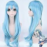 Sword Art Online ALfheim Online Yuuki Asuna Wig Cosplay Disfraz Yuki Asuna Mujer Pelo sintético resistente al calor largo Pelucas azulesSword Art Online