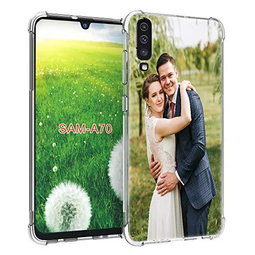 SHUMEI - Carcasa para Samsung Galaxy A70, diseño de fotos personalizadas con absorción de impactos, TPU suave y transparente