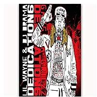 Lil Wayne Dedication6リローデッドラップミュージックスターアルバムポスターアートキャンバスホームルーム壁印刷装飾キャンバスに印刷60x80cmフレームなし