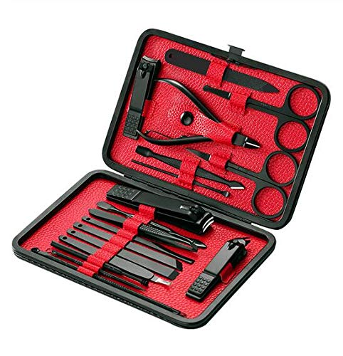 18 stks/set Manicure Set Professionele Nagel Kunst Schoonheid Gereedschap Sets Clipper Kit Utility Pedicure Schaar Pincet Mes Oor Pick