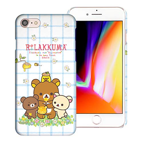 Compatible with iPhone SE 2020 / iPhone 8 / iPhone 7 Case (4.7inch) [Slim Fit] Rilakkuma Thin Hard Matte Surface Excellent Grip Cover - Rilakkuma Honey
