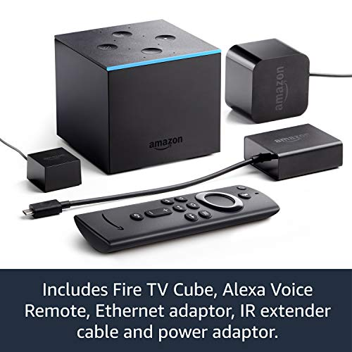Fire TV Cube | Hands free with Alexa, 4K Ultra HD streaming media player