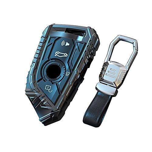 Funda para llave de coche para Bmw Funda para llave Tpu Funda de silicona Protector sin llave para Bmw 1 3 4 5 6 7 Serie X3 X4 M2 M3 M4 M5 M6 Aleación de zinc de 4 botones Llavero remoto Lla
